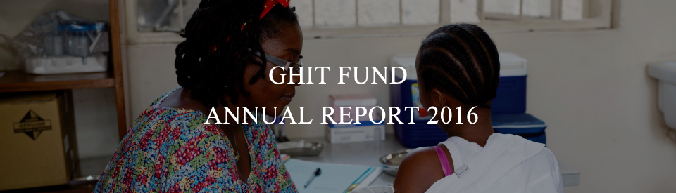 GHIT Fund Annual Report 2016
